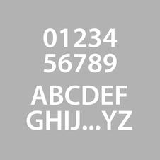 Marquage chiffres et lettres